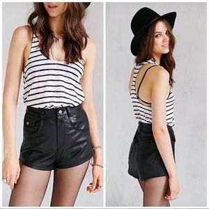 Pins & Needles Vegan Leather High Waisted Shorts